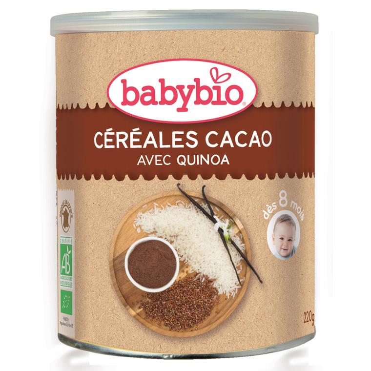Céréales cacao bio BABYBIO 220 g