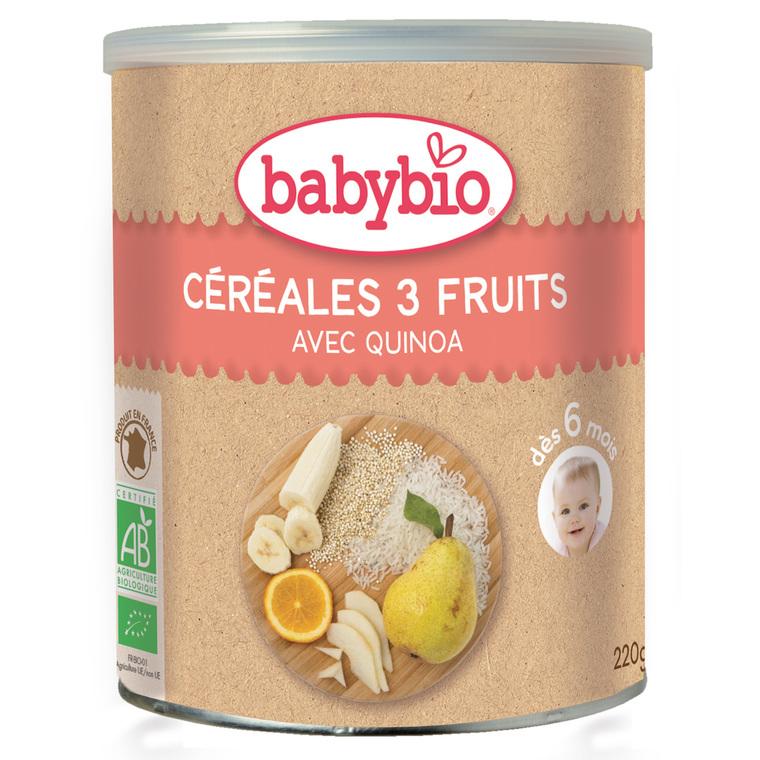 Cereale 3 fruits bio 200 g BABYBIO 355057