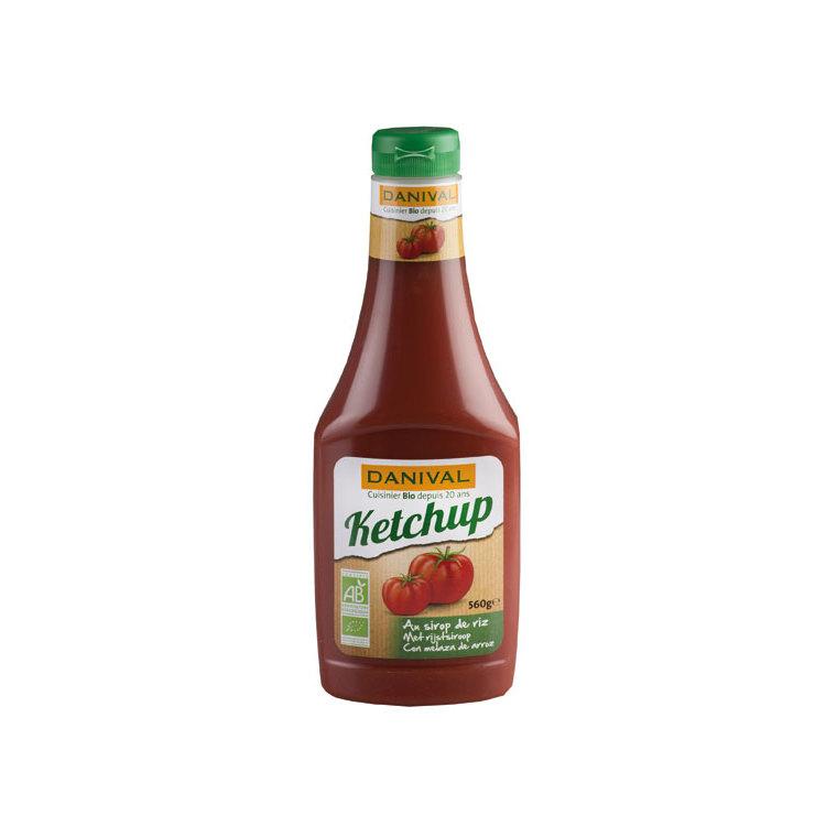 Ketchup bio souple sans saccharose DANIVAL 560 g 355187