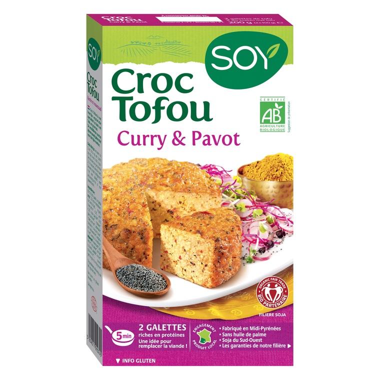 Croque tofou au curry et au pavot bio 200 g 355436