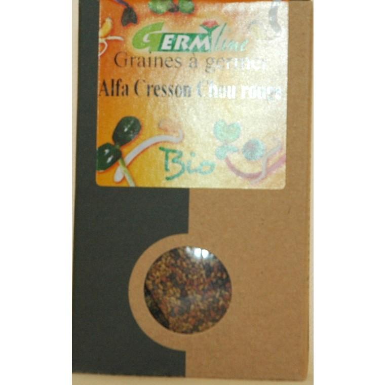 Graines à germer bio alfa, cresson, chou rouge - 150 g 355650