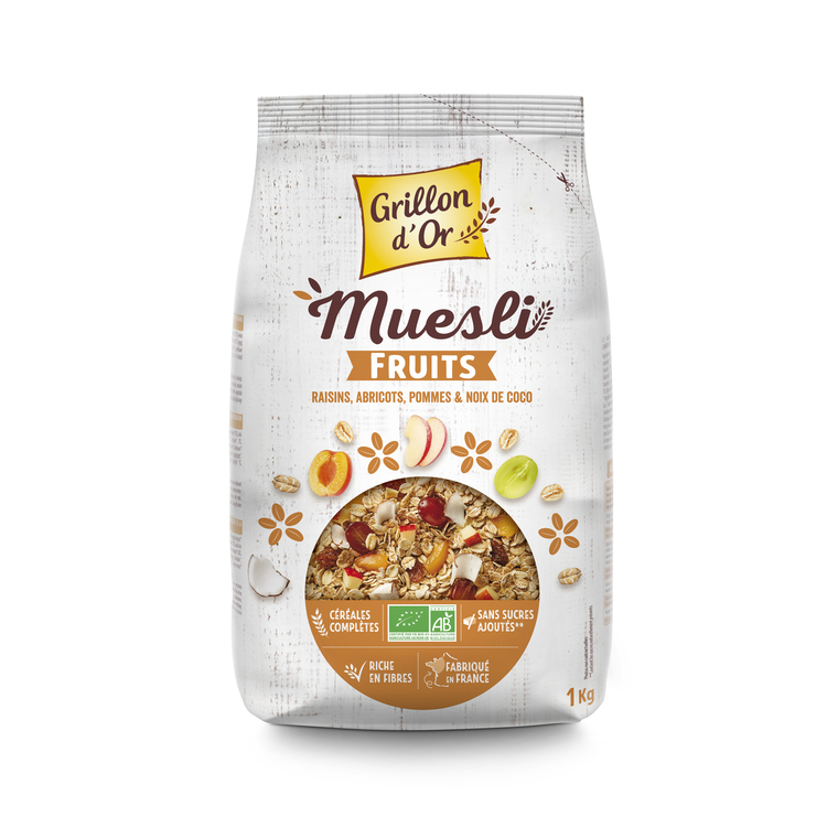 Muesli familial aux fruits bio GRILLON D'OR