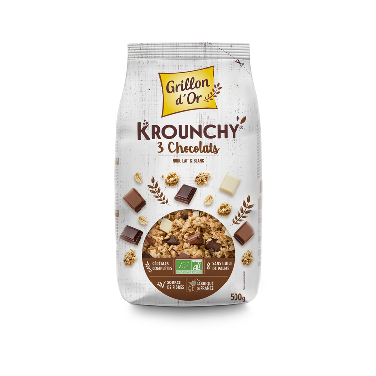 Krounchy Trois Chocolats Bio - 500 g 356057
