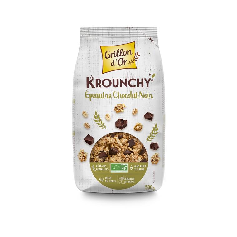 Krounchy épeautre chocolat noir 500 g 356061