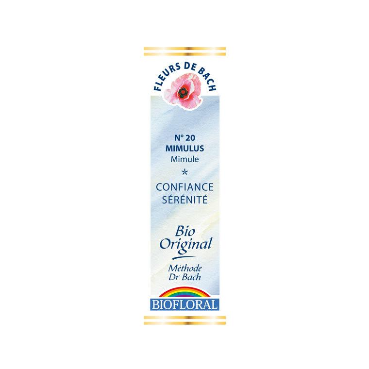Élixir n°20 Biofloral de mimule en flacon de 20 ml 356137