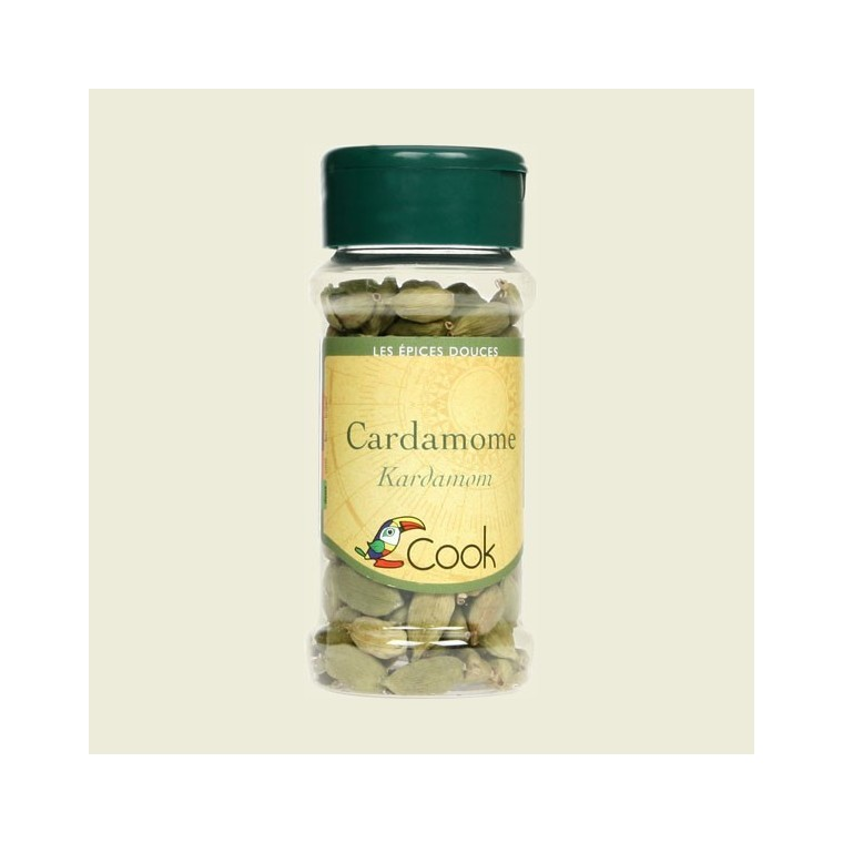 Cardamome en fruits bio en pot de 25 g 356557