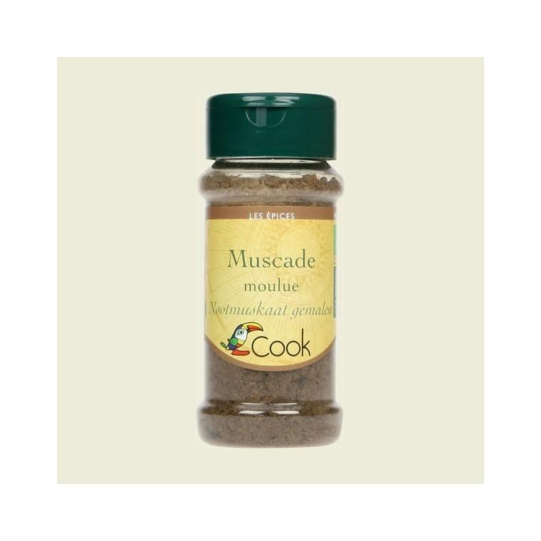 Noix de muscade en poudre bio en pot de 35 g 356576