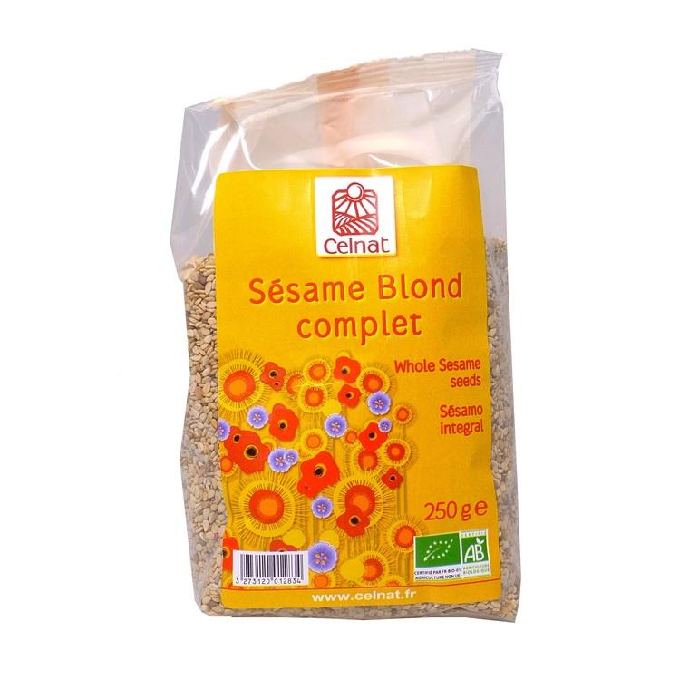 Sésame blond complet toasté bio en sachet de 250 g 356850