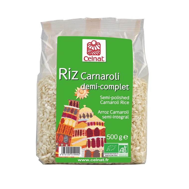 Riz long Carnaroli ½ complet bio en sachet de 500 g 356851