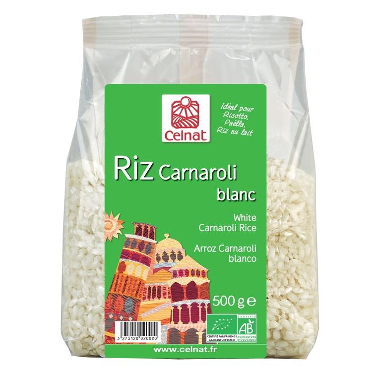 Riz long Carnaroli blanc bio en sachet de 500 g 356852