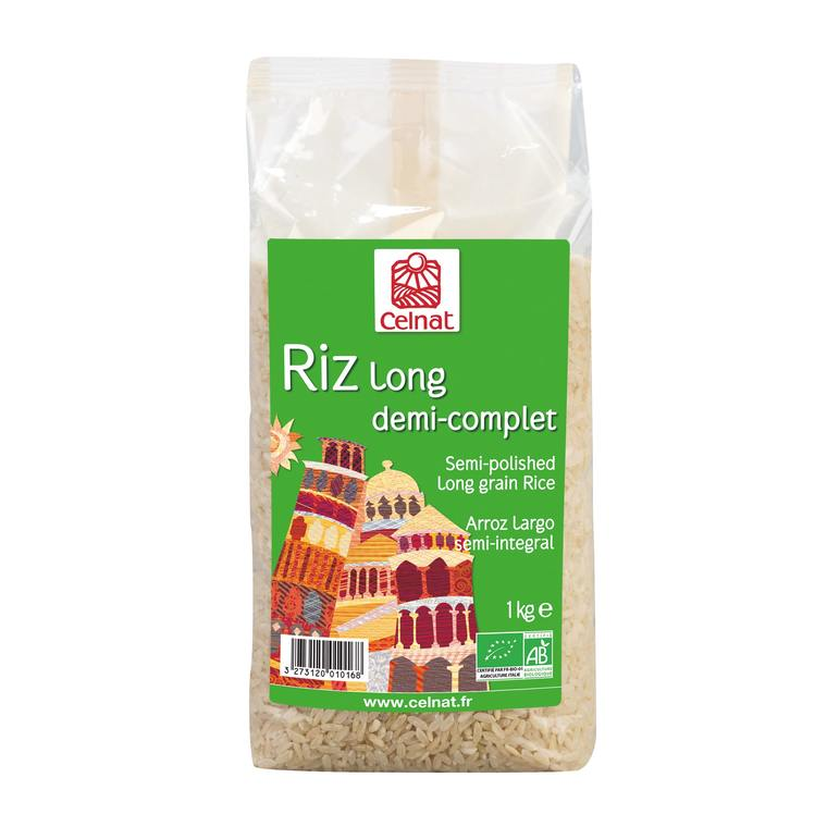 Riz long demi-complet bio en sachet de 1 kg 356855