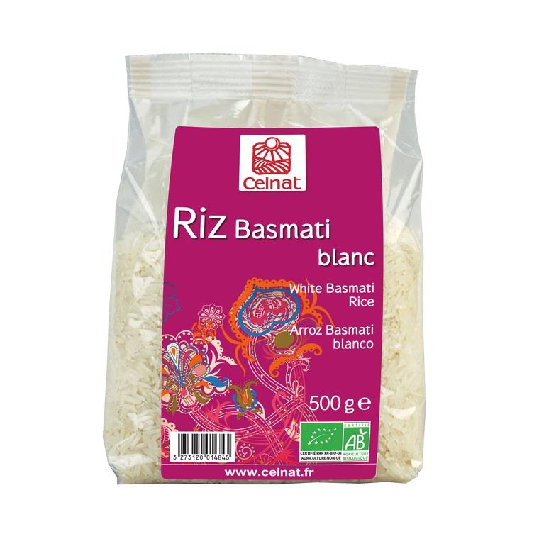 Riz long basmati blanc bio en sachet de 500 g 356863
