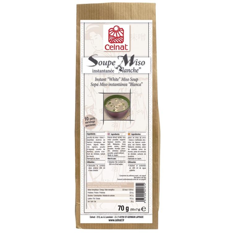 Soupe miso instantanée blanche bio en sachet de 70 g 356982