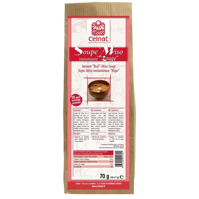 Soupe miso instantanée rouge bio en sachet de 70 g 356983
