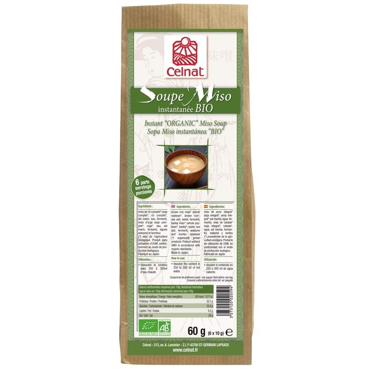 Soupe miso instantanée bio en sachet de 60 g 356984