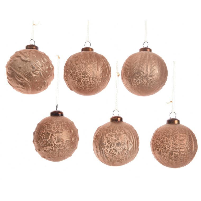 Boule de verre marron cuir dans boite bois 357554