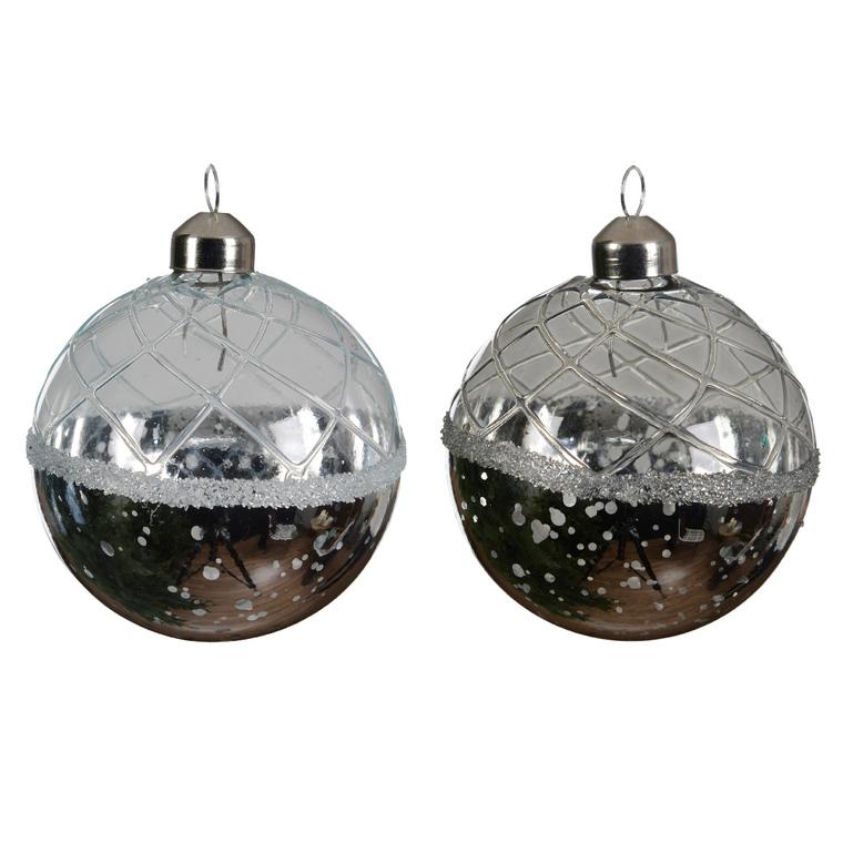 Boule de verre avec finition antique (disponible en 2 modèles) 357558