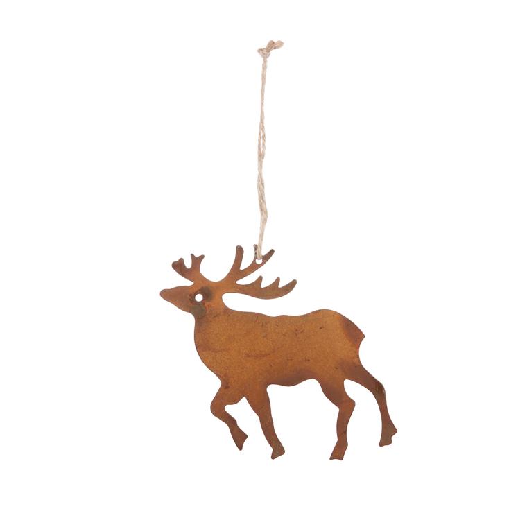 Figurine en fer à suspendre couleur rouille (disponible en 3 modèles)