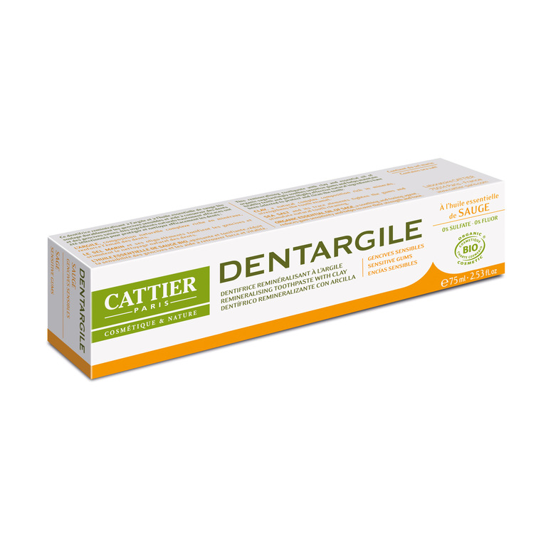 Dentifrice dentargile sauge bio en tube de 75 ml 357829