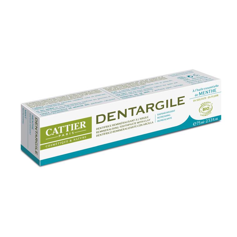 Dentifrice dentargile menthe bio en tube de 75 ml 357831