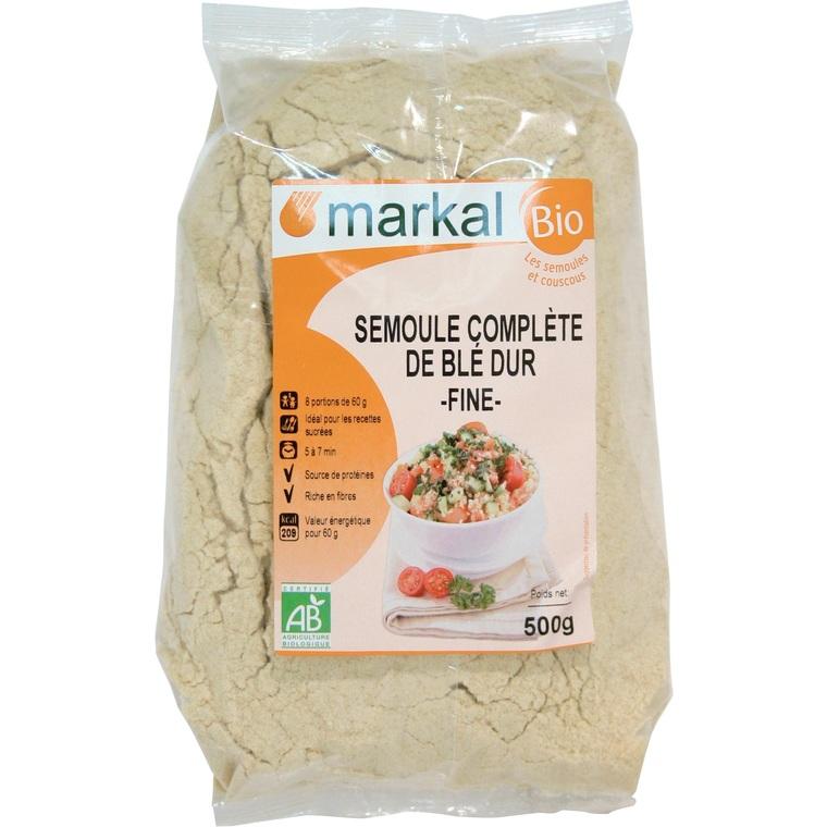 Semoule complète de blé dur bio – 500 gr 358260