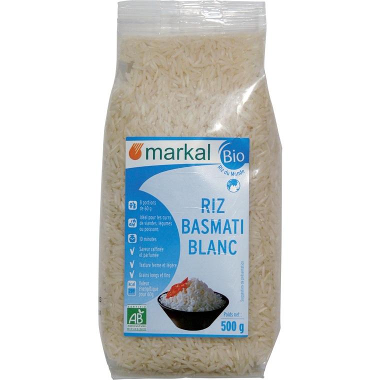 Riz basmati blanc Markal 500 g 358280