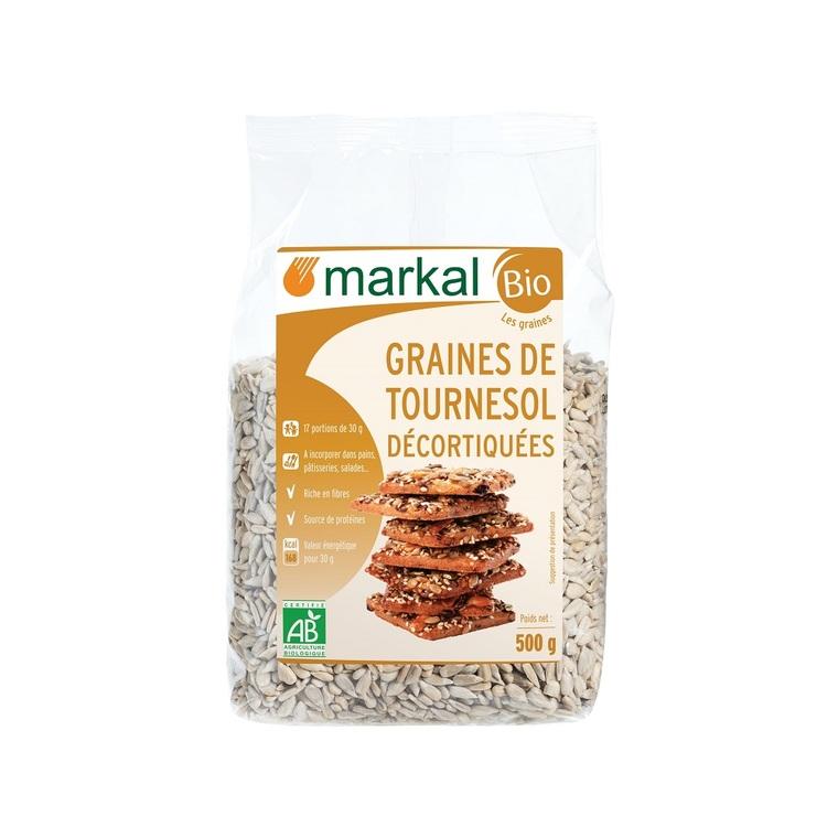 Graines de tournesol décortiquées MARKAL 500 g