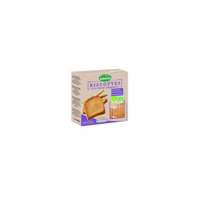 Biscottes à la farine d'épeautre bio - 300 gr 358355