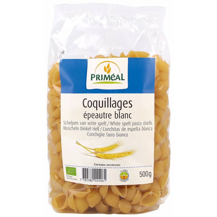 Coquillages epeautre blanc 500 g PRIMEAL 358556