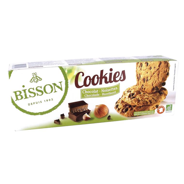 Cookies bio chocolat noisettes 200 g BISSON 358609