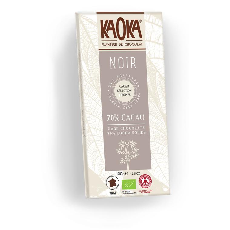Chocolat noir 70% KAOKA 100 g
