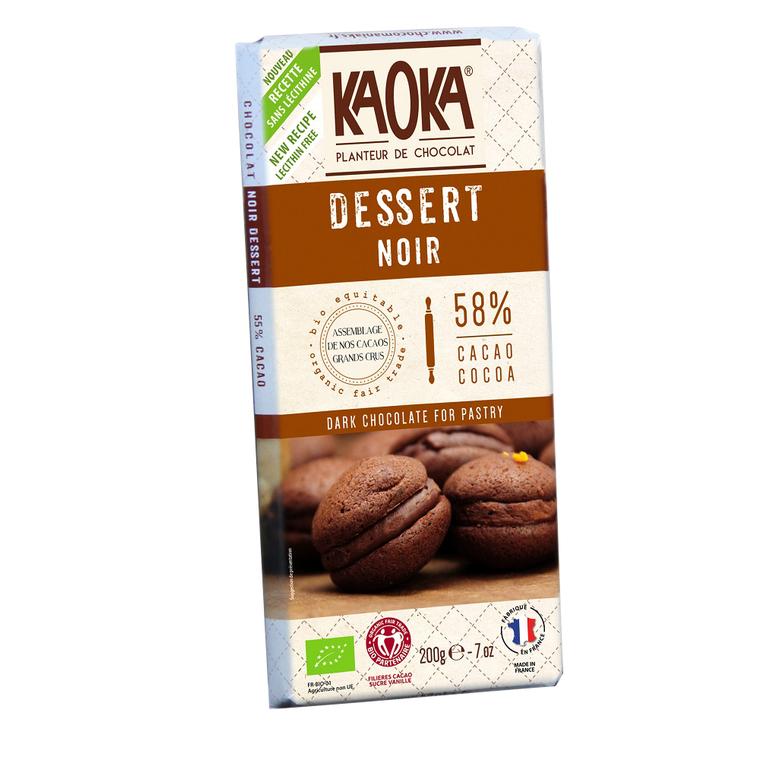 Chocolat dessert 58% KAOKA 200 g 358664