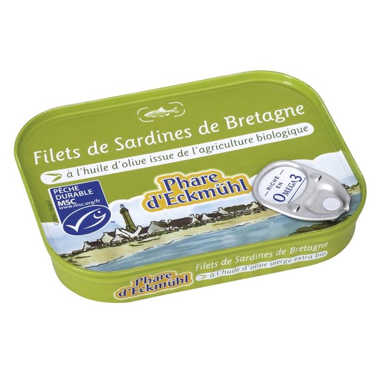Filets sardines huile.100 g PHARE D'ECKMÜHL 358675