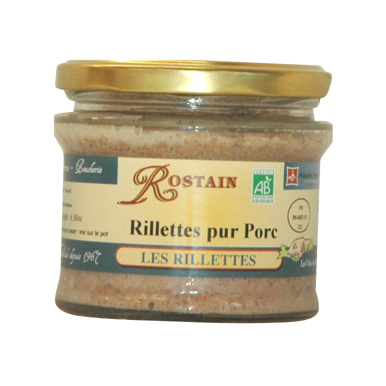 Rillettes pur porc ROSTAIN 359106