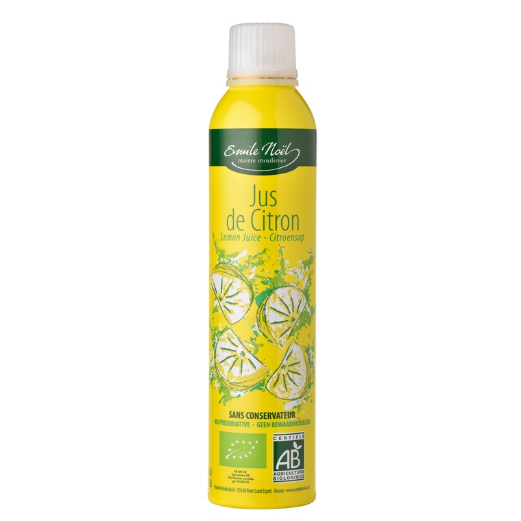Jus de citron bio en flacon de 200 ml 360025