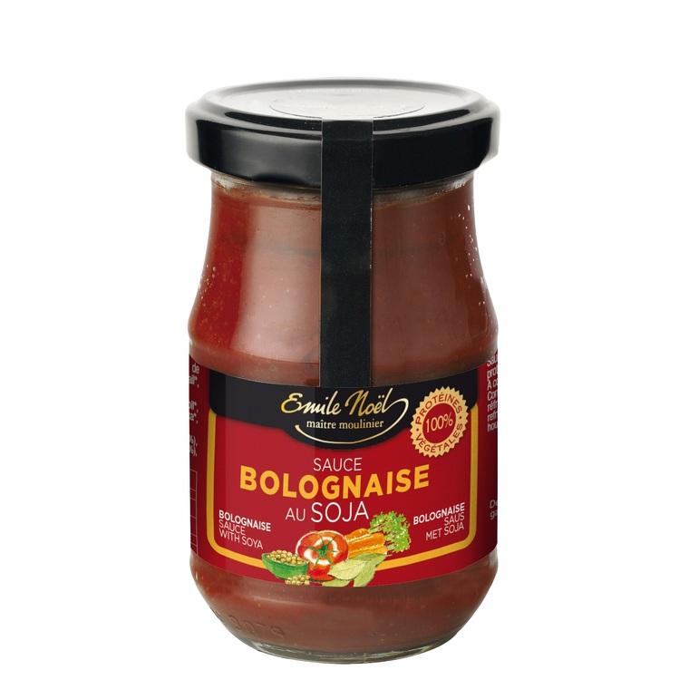 Sauce tomate bolognaise bio riche en protéines en pot de 190 g 360033