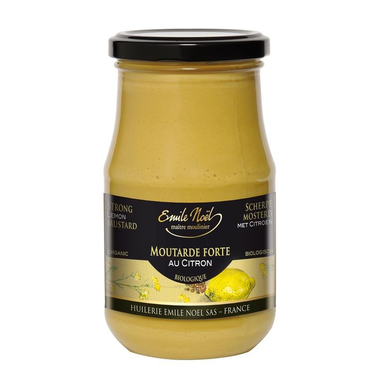 Moutarde forte au citron bio en pot de 200 g 360045