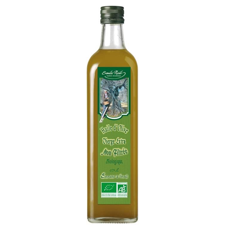 Huile d'olive vierge extra bio en bouteille de 750 ml 360060