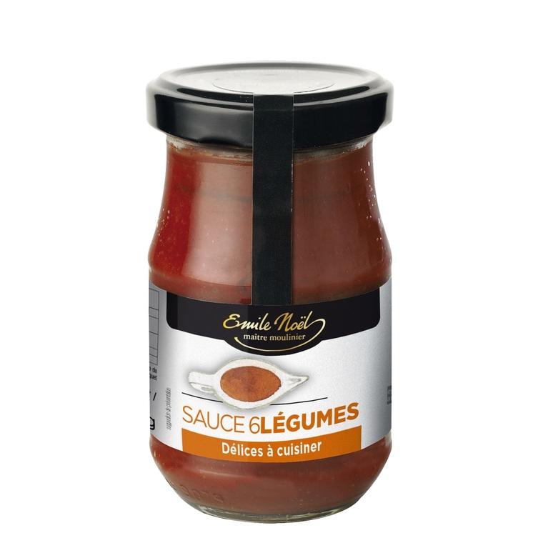Sauce aux 6 légumes bio en pot de 190 g 360069