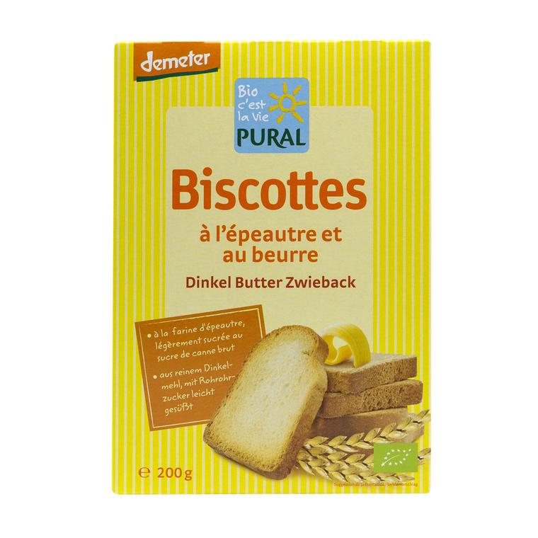 Biscottes épeautre beurre PURAL 360691