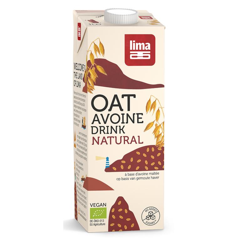 Oat drink natural boisson à l'avoine bio en brique de 1 L 360773