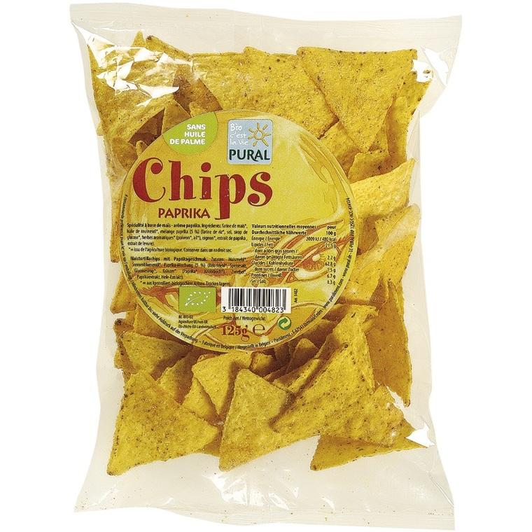 Chips Maïs paprika PURAL 360852