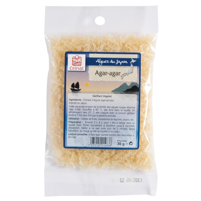 Agar-agar bio en flocons 30 g 364470