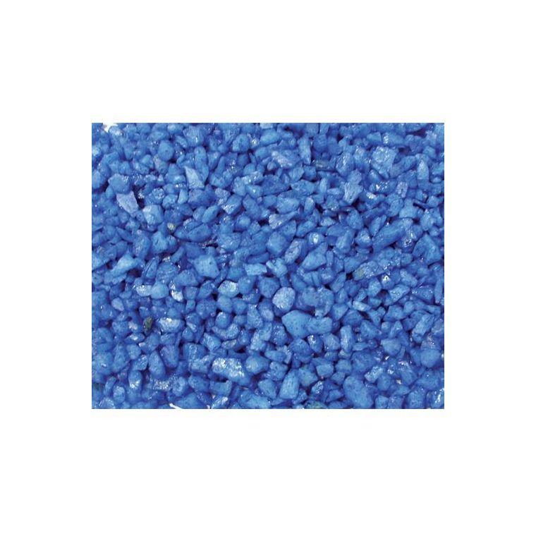 Gravier enrobé fluo bleu Girard