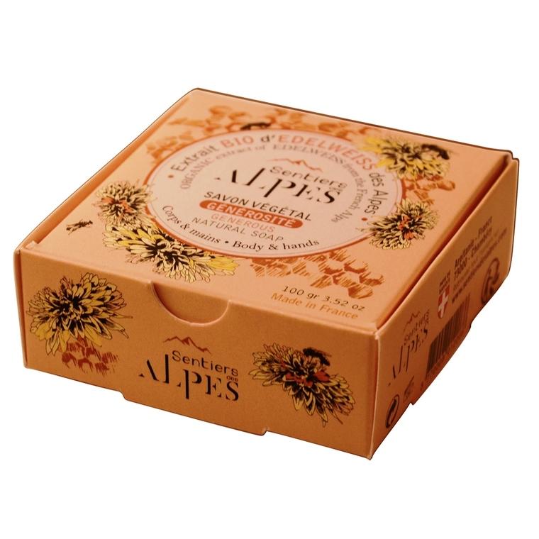 Savon solide Sentiers des Alpes miel floral 100 g 366313