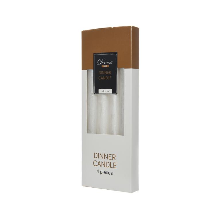 Bougie blanche pour cierge métallique rustique 2,2 x 25 cm 366415