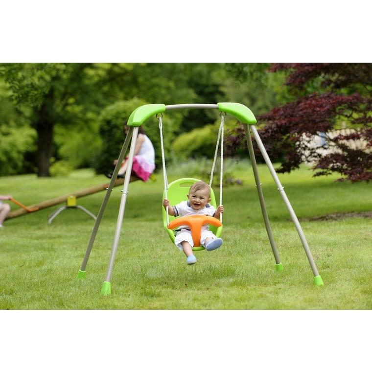 Portique pliable avec siège balançoire pour bébé 367455