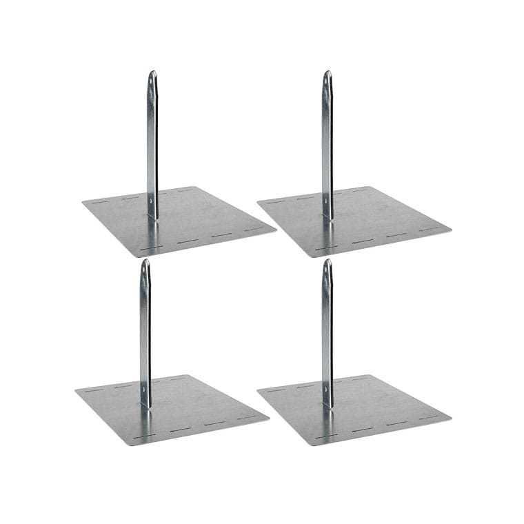 Lot de 4 scellements sans béton pour portique en bois ou métal 367470