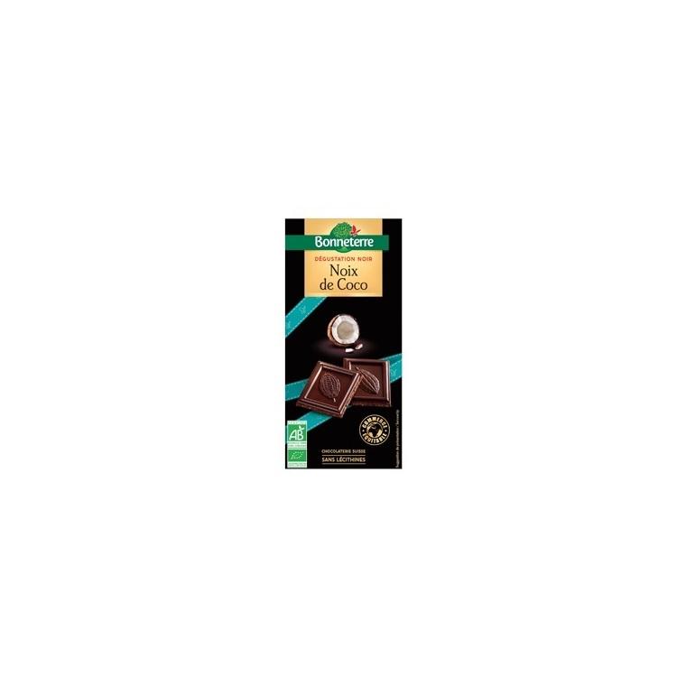 Chocolat noir à la noix de coco Bonneterre bio 90 g 369247