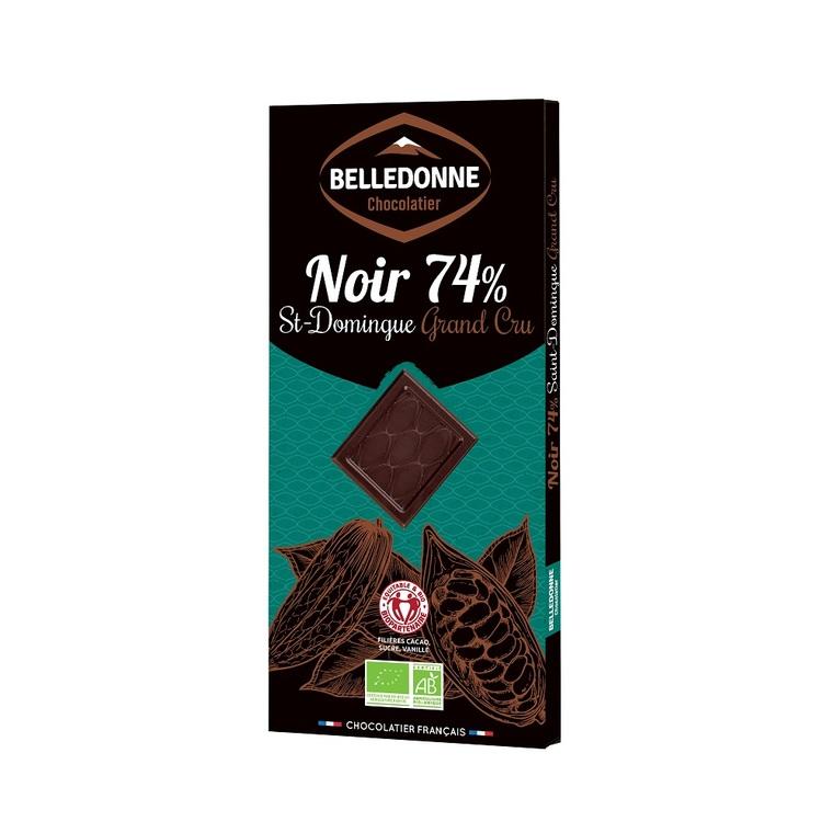 Chocolat noir 74% 100 g St Domingue 370250